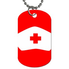 Tabla Laboral Sign Red White Dog Tag (one Side) by Mariart