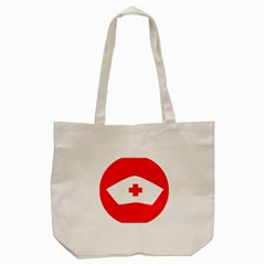 Tabla Laboral Sign Red White Tote Bag (cream) by Mariart
