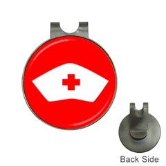 Tabla Laboral Sign Red White Hat Clips With Golf Markers by Mariart