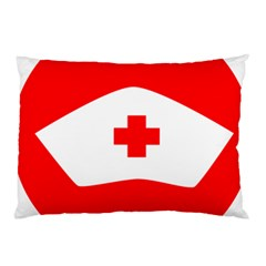 Tabla Laboral Sign Red White Pillow Case by Mariart