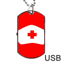 Tabla Laboral Sign Red White Dog Tag Usb Flash (one Side) by Mariart