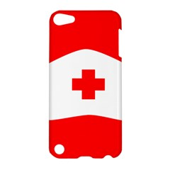Tabla Laboral Sign Red White Apple Ipod Touch 5 Hardshell Case by Mariart