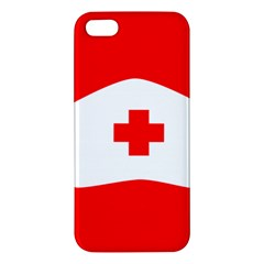 Tabla Laboral Sign Red White Apple Iphone 5 Premium Hardshell Case by Mariart
