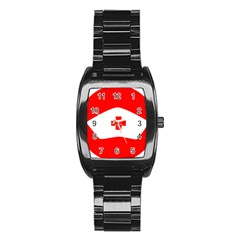 Tabla Laboral Sign Red White Stainless Steel Barrel Watch by Mariart