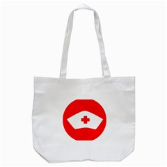 Tabla Laboral Sign Red White Tote Bag (white) by Mariart