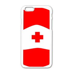 Tabla Laboral Sign Red White Apple Iphone 6/6s White Enamel Case by Mariart