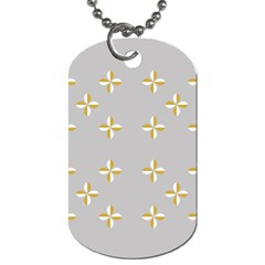 Syrface Flower Floral Gold White Space Star Dog Tag (one Side) by Mariart