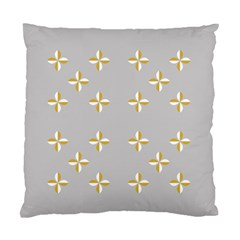 Syrface Flower Floral Gold White Space Star Standard Cushion Case (one Side)