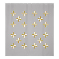 Syrface Flower Floral Gold White Space Star Shower Curtain 66  X 72  (large)  by Mariart