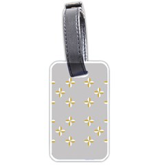Syrface Flower Floral Gold White Space Star Luggage Tags (one Side)  by Mariart