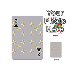 Syrface Flower Floral Gold White Space Star Playing Cards 54 (mini)  by Mariart
