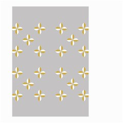 Syrface Flower Floral Gold White Space Star Small Garden Flag (two Sides) by Mariart