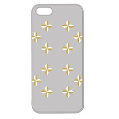 Syrface Flower Floral Gold White Space Star Apple Seamless Iphone 5 Case (clear) by Mariart