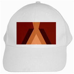 Volcano Lava Gender Magma Flags Line Brown White Cap by Mariart