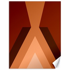 Volcano Lava Gender Magma Flags Line Brown Canvas 18  X 24