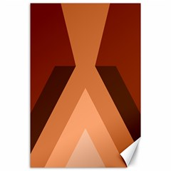 Volcano Lava Gender Magma Flags Line Brown Canvas 24  X 36  by Mariart