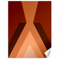 Volcano Lava Gender Magma Flags Line Brown Canvas 36  X 48