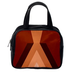 Volcano Lava Gender Magma Flags Line Brown Classic Handbags (one Side) by Mariart