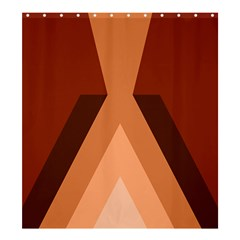 Volcano Lava Gender Magma Flags Line Brown Shower Curtain 66  X 72  (large)  by Mariart