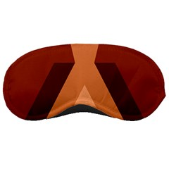 Volcano Lava Gender Magma Flags Line Brown Sleeping Masks by Mariart