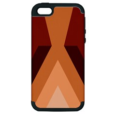 Volcano Lava Gender Magma Flags Line Brown Apple Iphone 5 Hardshell Case (pc+silicone) by Mariart