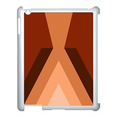 Volcano Lava Gender Magma Flags Line Brown Apple Ipad 3/4 Case (white) by Mariart