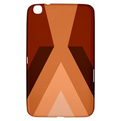 Volcano Lava Gender Magma Flags Line Brown Samsung Galaxy Tab 3 (8 ) T3100 Hardshell Case  by Mariart