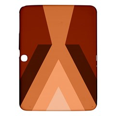 Volcano Lava Gender Magma Flags Line Brown Samsung Galaxy Tab 3 (10 1 ) P5200 Hardshell Case  by Mariart