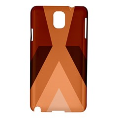 Volcano Lava Gender Magma Flags Line Brown Samsung Galaxy Note 3 N9005 Hardshell Case by Mariart