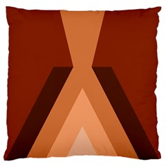 Volcano Lava Gender Magma Flags Line Brown Large Flano Cushion Case (one Side) by Mariart