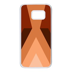 Volcano Lava Gender Magma Flags Line Brown Samsung Galaxy S7 White Seamless Case by Mariart
