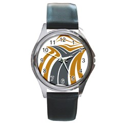 Transparent All Road Tours Bus Charter Street Round Metal Watch by Mariart