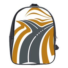 Transparent All Road Tours Bus Charter Street School Bags(large)