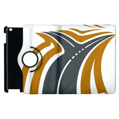 Transparent All Road Tours Bus Charter Street Apple Ipad 3/4 Flip 360 Case by Mariart