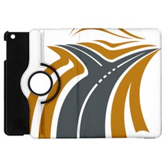 Transparent All Road Tours Bus Charter Street Apple Ipad Mini Flip 360 Case by Mariart