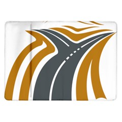 Transparent All Road Tours Bus Charter Street Samsung Galaxy Tab 10 1  P7500 Flip Case by Mariart