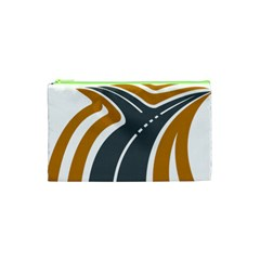 Transparent All Road Tours Bus Charter Street Cosmetic Bag (xs)