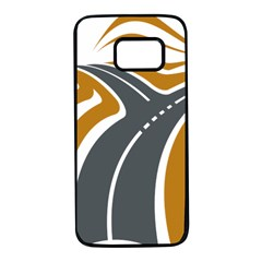 Transparent All Road Tours Bus Charter Street Samsung Galaxy S7 Black Seamless Case by Mariart