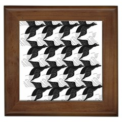 Swan Black Animals Fly Framed Tiles by Mariart