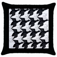 Swan Black Animals Fly Throw Pillow Case (black)