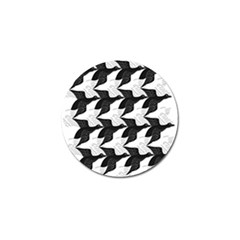 Swan Black Animals Fly Golf Ball Marker (10 Pack) by Mariart