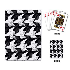 Swan Black Animals Fly Playing Card