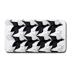 Swan Black Animals Fly Medium Bar Mats by Mariart