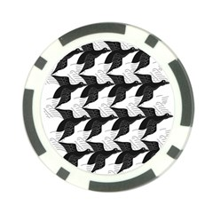 Swan Black Animals Fly Poker Chip Card Guard by Mariart