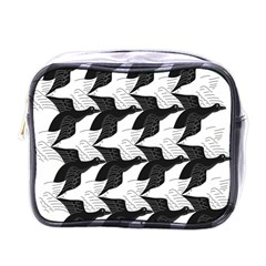 Swan Black Animals Fly Mini Toiletries Bags by Mariart