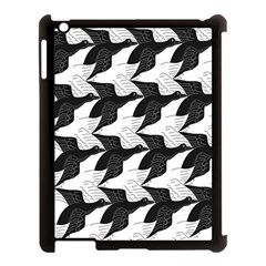 Swan Black Animals Fly Apple Ipad 3/4 Case (black) by Mariart