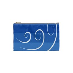 Ventigender Flags Wave Waves Chevron Leaf Blue White Cosmetic Bag (small)  by Mariart