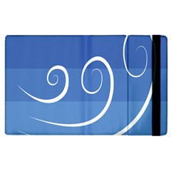 Ventigender Flags Wave Waves Chevron Leaf Blue White Apple Ipad 2 Flip Case by Mariart