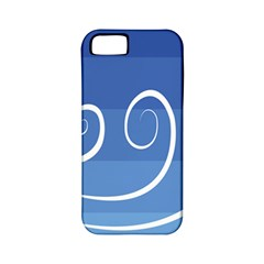 Ventigender Flags Wave Waves Chevron Leaf Blue White Apple Iphone 5 Classic Hardshell Case (pc+silicone) by Mariart