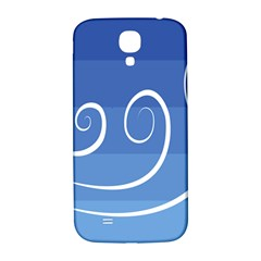 Ventigender Flags Wave Waves Chevron Leaf Blue White Samsung Galaxy S4 I9500/i9505  Hardshell Back Case